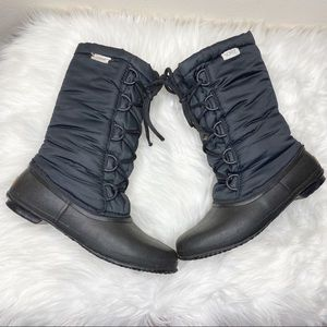 Sorel Black Winter Snow Boots Size 9